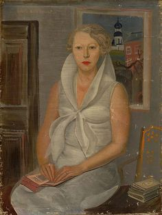 Female portrait by Boris Grigoriev (GTG, 1930s).jpg
