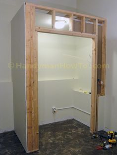 Building a Basement Bedroom Closet: Drywall and Electrical Wiring