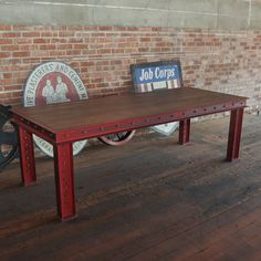 Firehouse Table Base | Vintage Industrial Furniture