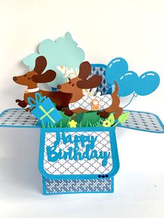 Pop Up Box Cards, Dachshund, Weenie Dogs, Weiner Dogs, Dachshunds