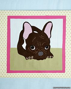 Fabric Pet Portrait  Turn a favorite pet photo into a fabric portrait without using a needle and thread. Video instructions!