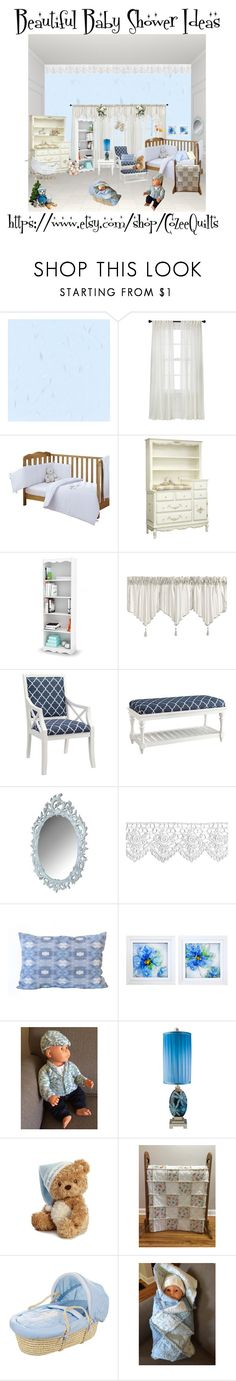 """""""Knitted Newborn Outfit, Baby Boy Cardigan & Newsboy Hat, Knitted Baby Boy Clothes, 0-3 mths, Going Home set, Baby Shower Gift, Christening"""" by bamasbabes ❤ liked on Polyvore featuring Nate Berkus, Hearts Attic, J. Queen New York, Universal Lighting and Decor, Elise Flashman and New View"""
