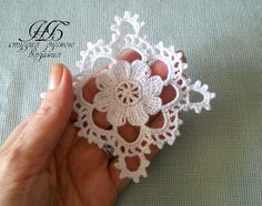One miniature crochet square doily 4 cm, dollhouse min Filet Crochet, Beau Crochet, Crochet Wool, Thread Crochet, Love Crochet, Crochet Motif, Beautiful Crochet, Irish Crochet, Crochet Doilies