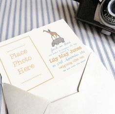 personalised new baby announcement postcard by precious little plum | notonthehighstreet.com