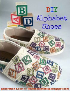 DIY Alphabet Shoes