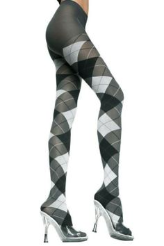 224ba85d7386a Music Legs // Grey Opaque Argyle Design Pantyhose Opaque Tights, Patterned  Tights, Grey