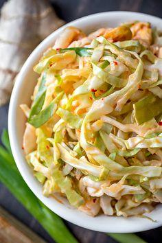 Kimchi Slaw | thecozyapron.com