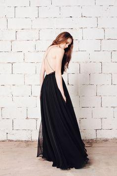 Black Muslin Dress - LK Beirut | Lara Khoury | NOT JUST A LABEL