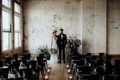 Our friends over at @hawkeandhyde are incredibly talented. How beautiful is this wedding ceremony they designed? Styling @hawkeandhyde Venue @hipgroupnz Dress @ruedeseinebridal Suit @cranebrothers MUA @connoradams Flowers @hawkeandhyde Photography @chasewildphotos - www.chasewild.com