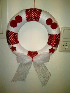 Wintet front door wreath