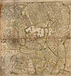 1696 Japanese map/Plan of Edo (Tokyo, Japan). 江戸図. Creator: Kaifuya, Gonzaemon. University of British Columbia. Library.