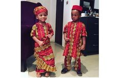 Nigerian celeb kids dress in their traditional attire to celebrate independence day – They look gorgeous! ( Pics)