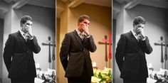 Love this photo of the groom crying as he sees his future wife walk down the isle! Image came from: http://chicagostyleweddings.blogspot.com/2013/10/25-best-groom-reactions-ever.html