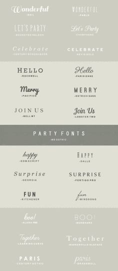 big list of fonts for download. Need to look at actual website