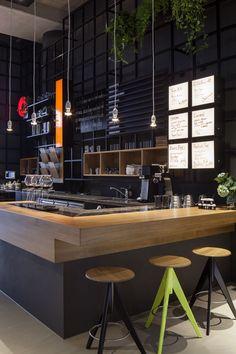 Best coffee shop decoration idea 6 in 2019 caffe bar dekoras Café Bar, Bar Set, Deco Restaurant, Restaurant Design, Bar Bistro, Café Design, Best Coffee Shop, Coffee Shops, Coffee Bars