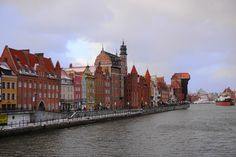 Gdańsk Old City and Motława river Baltic Sea, Old City, Old Town, Poland, New York Skyline, Backpack, River, Backpacker, Rivers