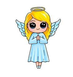 I'm a angel (soy ángel) Bv Cute Drawings Of People, Cute Little Drawings, Cute Easy Drawings, Cute Girl Drawing, Kawaii Girl Drawings, Cute Cartoon Drawings, Cute Disney Drawings, Cartoon Girl Drawing, Cute Kawaii Girl