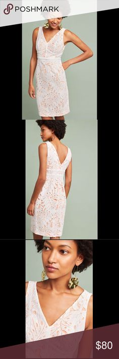 Anthro - Maeve - Gardenia Lace Column Dress SZ 12 Anthropologie - Maeve - Gardenia Lace Column Dress - SZ 12 - gorgeous, gorgeous dress!! I need a 10 or else I would never sell! Anthropologie Dresses Midi