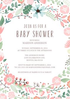 Flower Garden Baby Shower Invitation designed by Fine & Dandy Paperie on Celebrations.com