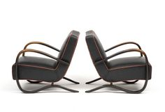 Pair of Armchairs by Jindrich Halabala, 1930s 2