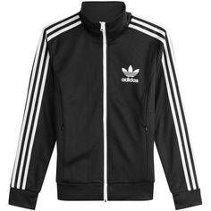 Adidas Originals Zipped Jacket (6.395 RUB) ❤ liked on Polyvore featuring outerwear, jackets, tops, multicolored, black and white jackets, multi coloured jacket, zip jacket, colorful jackets and multi colored jacket