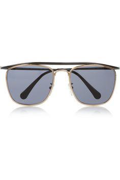 a9c086f8f71c4 Balenciaga Aviator-style metal sunglasses Face Shape Sunglasses