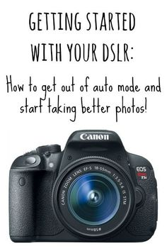 A beginner's guide to taking better photos with a DSLR. How to stop using the flash, get out of auto mode, and start taking better pictures!