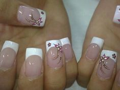 Arte en uñas Yoma ira y Lady Elegant Nail Designs, French Nail Designs, Elegant Nails, Acrylic Nail Designs, Nail Art Designs, Acrylic Nails, Cute Nails, Pretty Nails, My Nails