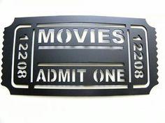 Movie tickets #shadowbox #memories