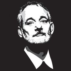 Truly a God among mortals, Bill F*cking Murray knows no bounds. Our Chivery scientists have distilled him into wearable form: the perfect Bill Murray T-Shirt! The Chivery, Face Stickers, Bill Murray, Portrait Illustration, Paint By Number, Art Sketchbook, Art Techniques, Retro Vintage, Photoshop