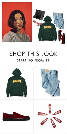 """loner // kali uchis"" by pixieptv ❤ liked on Polyvore featuring Dickies and Vans"