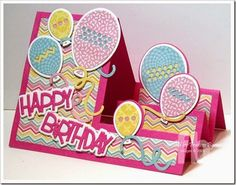 Happy Birthday created by Frances Byrne using Sizzix Balloons Step-Ups Card Framelits