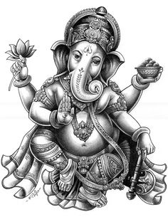 Ganesha tattoo drawing