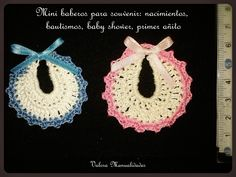 Baberos | Valora manualidades www.valoraweb.blogspot.com.ar #crochet #souvenirs