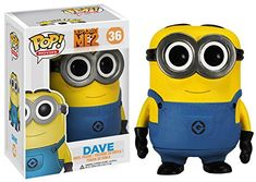 Despicable Me - Dave POP Figure Toy 3 x 4in >>> More info @ http://www.amazon.com/gp/product/B00J9T8U8M/?tag=superheroes025-20&pab=250716021153
