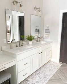 Grey Bathroom Cabinets, Gray Bathroom Walls, Grey Kitchen Walls, Grey Laundry Rooms, Grey Walls Living Room, Kitchen Cabinets, Master Bathroom, Dining Room Colour Schemes, Color Schemes
