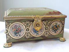 SOLD, Vintage West German Decorative Tin Box