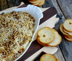 Fancy Artichoke Dip- Goat cheese, cream cheese, artichokes, parmesan and pecans? Recipes Appetizers And Snacks, Finger Food Appetizers, Appetizer Dips, Dip Recipes, Delicious Recipes, Easy Recipes, Recipies, Artichoke Recipes, Artichoke Dip