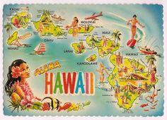 Aloha Hawaii Map