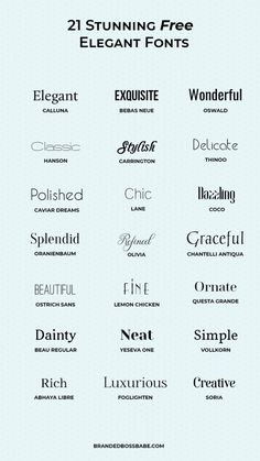 20 beautiful and free elegant fonts - Ana Amelio - Design for Life Portfolio Graphic Design, Graphic Design Fonts, Typography Letters, Typography Logo, Font Logo, Logo Type, Hand Lettering, Graphisches Design, Logo Design