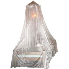 The ultimate protection from pests. This columnar mosquito net protects you with an easy one-point suspension system. It easily fits full size beds to protect during the night against pesky insects. Great for camping, or a weekend cabin.