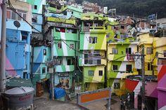 Santa Marta slum - Rio de Janeiro (Brazil)