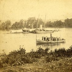 Civil War riverboats. Reminds me of what Rhett butler did in gone with the wind.