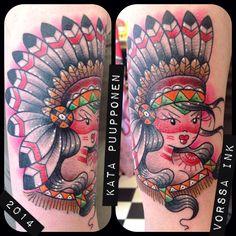 https://www.facebook.com/VorssaInk/, http://tattoosbykata.blogspot.com, #tattoo #tatuointi #katapuupponen#vorssaink #forssa #finland #traditionaltattoo #suomi #oldschool #pinup #native
