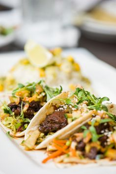 Kogi beef tacos with kimchee and crispy slaw at Crave, Mall of America