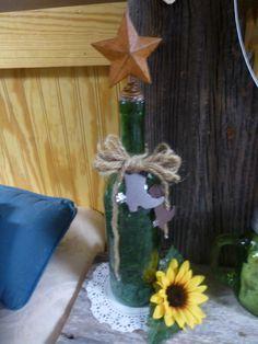 Country Girl Wine Bottle