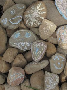 The Chocolate Muffin Tree: Chalking on Rocks