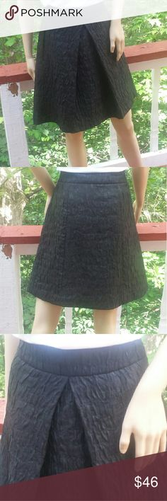 "*HP* *SALE* ZARA WOMAN Metallic Textured Skirt Such a delightful piece intertwines timeless elements like an a-line design with contemporary details such as metallic tint fabric to offer an almost ""crinkled"" presentation.   So wonderfully expresses a subtle & unique style that you'll treasure all yr!  * 68% polyester, 23% viscose, 8% nylon, 1% spandex * Lined * Inverted pleat @ center front * Duel, slit pockets @ side hips * Versatile black w/hint of silver  EXCELLENT CONDITION   SAVE WITH…"