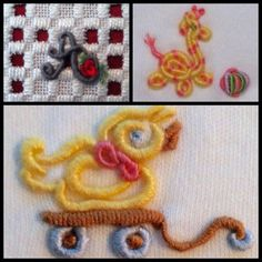 Bullions! I love this stitch and seeing what new whimsy I can create.Kari Mecca of Kari Me Away
