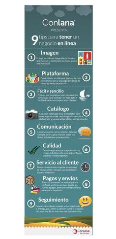 ¡9 puntos muy importantes que tienes que tomar para poner tu negocio en línea! #Negocios #Online #EnLínea #Ventas #Conlana
